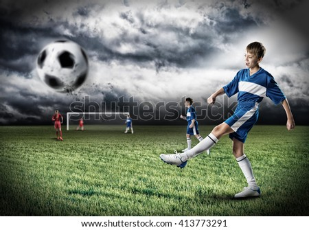 Young football champion