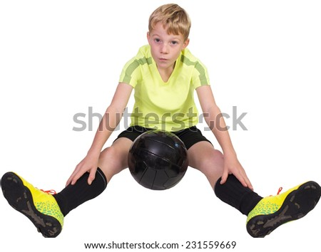 Young football player - stock photo