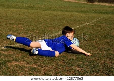 young footballer - stock photo