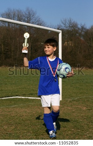 Young footballer is given credit for victory of match