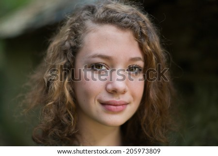 Young French woman - stock photo