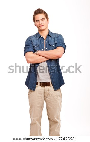 young, friendly guy - stock photo