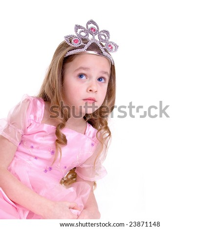 Young girl as magic fairy on white background