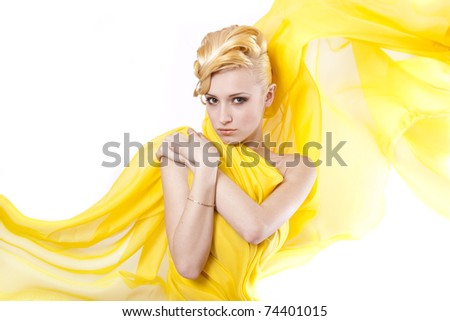 Young girl blonde hair - stock photo