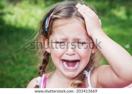 Virgin young girl crying