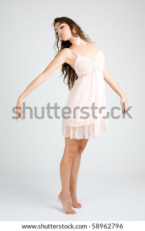young girl dancing ballet sad pose