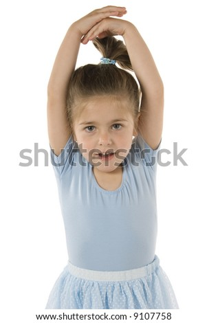 Young girl in Ballet pose
