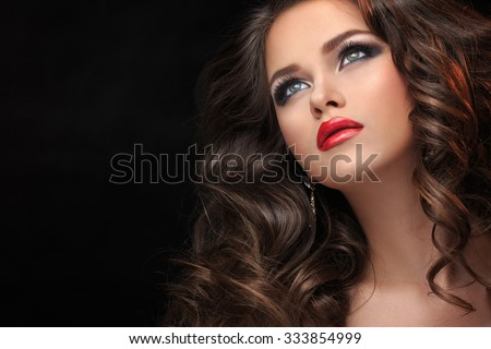 Young girl in the studio - stock photo