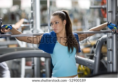 Young girl is resting after training - stock photo