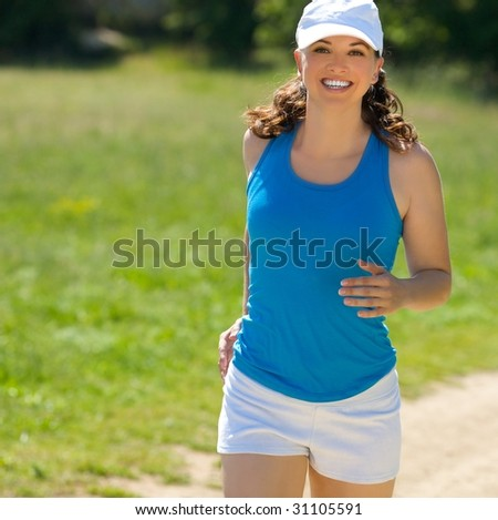 young girl jog