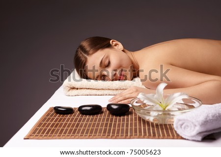 Young girl makes spa treatments - stock photo