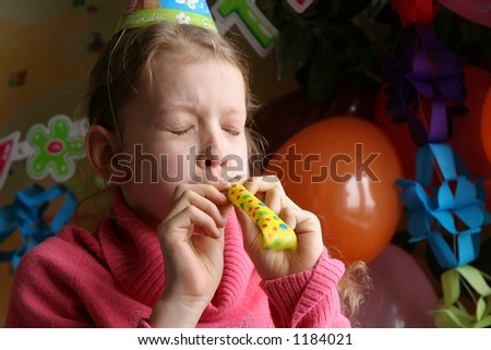 Young girl making noise - stock photo