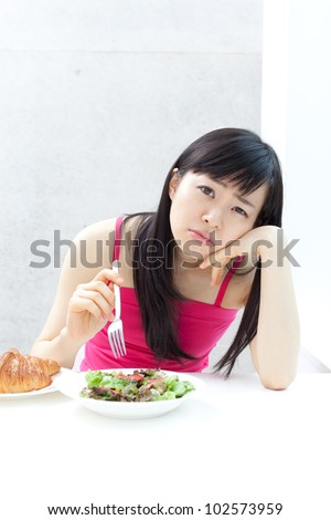 Young girl on a diet