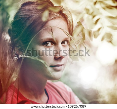 Young girl,  portrait in the park