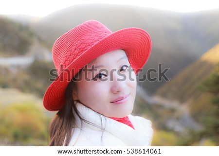 young girl portrait outdoor