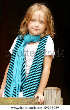 Young girl posing for a portrait - stock photo