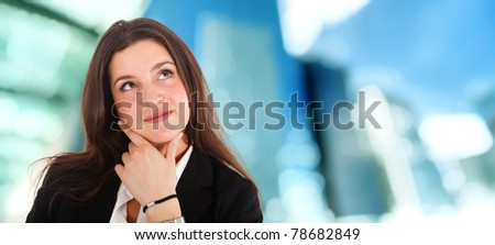 Young girl thinking - stock photo