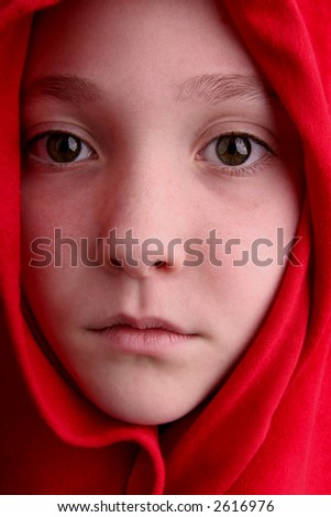 young girl waiting for Prince Charming - stock photo