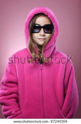 Young Girl Winter Fashion Portrait - stock photo