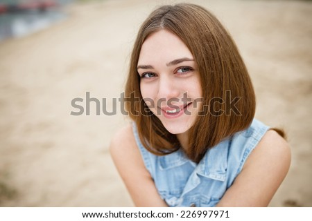 Young girl with a beautiful smile