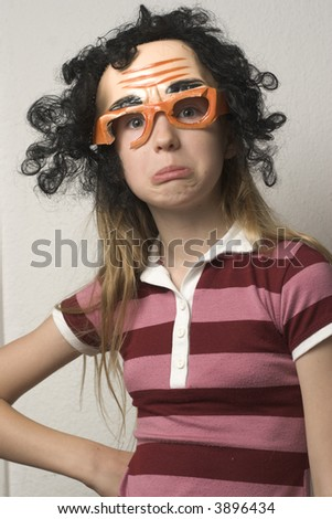 young girl with halloween mask on - Girl Halloween Masks