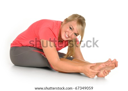 Young girl working out - stock photo