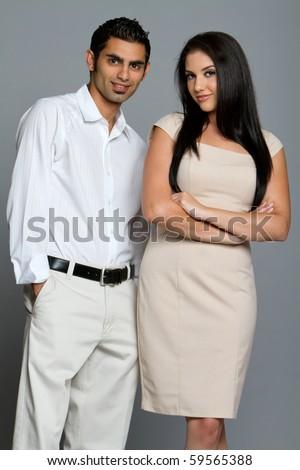 Young good looking ethnic couple - stock photo