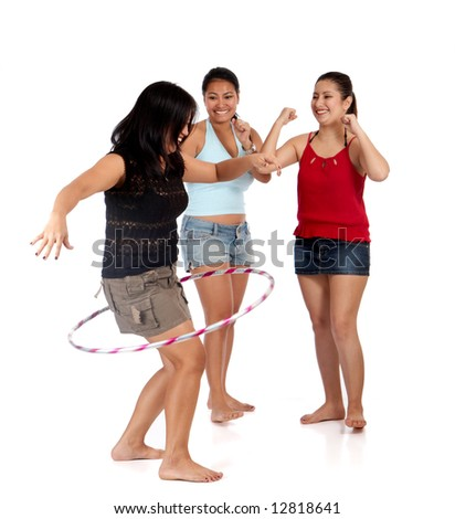 young group of friends having fun together - stock photo