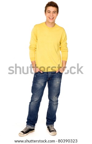 Young guy standing - stock photo