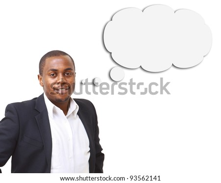Young handsome business man, isolated on white - stock photo