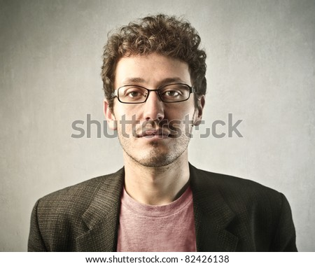 Young handsome businessman - stock photo