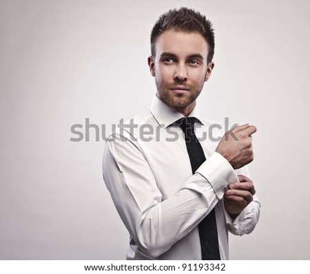 Young handsome businessman. - stock photo