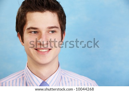 young handsome caucasian doctor - stock photo
