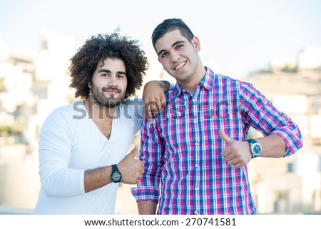 Young handsome men - stock photo