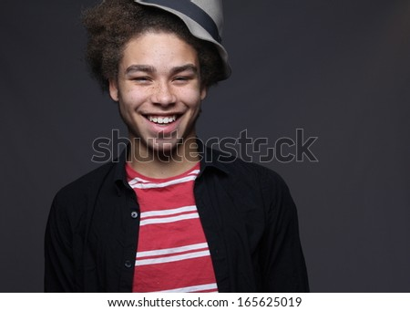 Young happy afro - stock photo