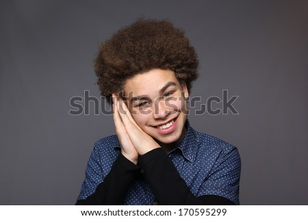 Young happy afro male