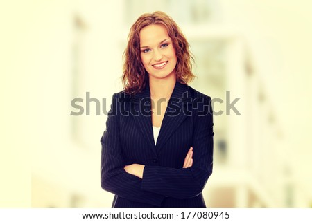 Young happy and beautiful businesswoman  - stock photo