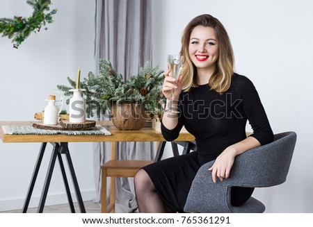 on glass Adult women tables sitting