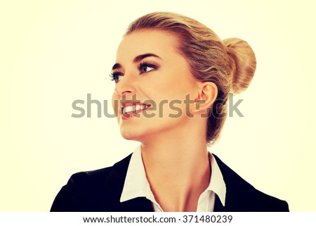 Young happy businesswoman. - stock photo