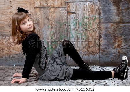 young happy girl. - stock photo
