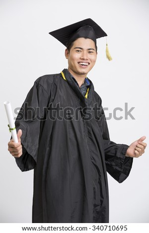 Young Happy indian Male Student Holding Graduation Certificate Exciting Expression