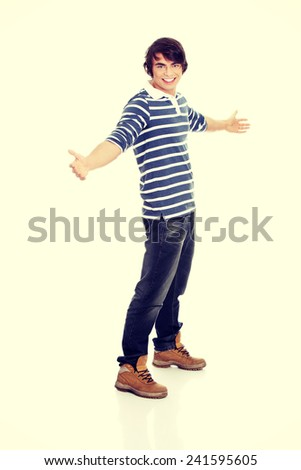Young happy ,smiling, handsome man. - stock photo