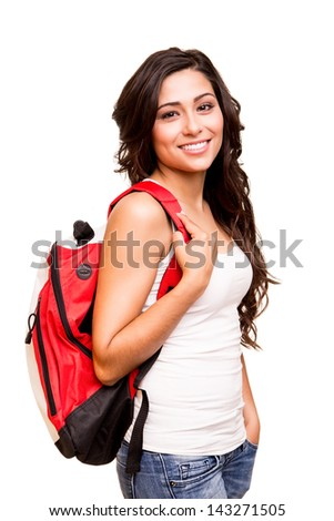 Young happy student - stock photo