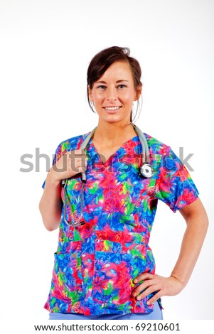 Young health care professional - stock photo