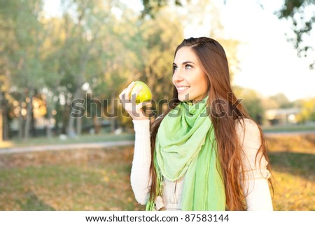 young healthy woman spending time in nature