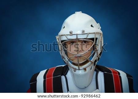 young hockey player - stock photo