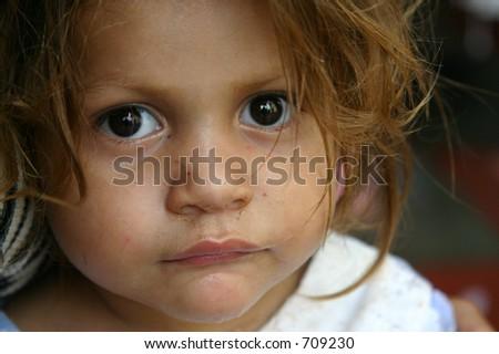 Young Honduran Orphan - stock photo