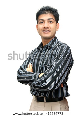 Young Indian business man - stock photo