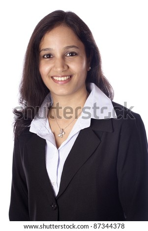 Young Indian businesswoman - stock photo