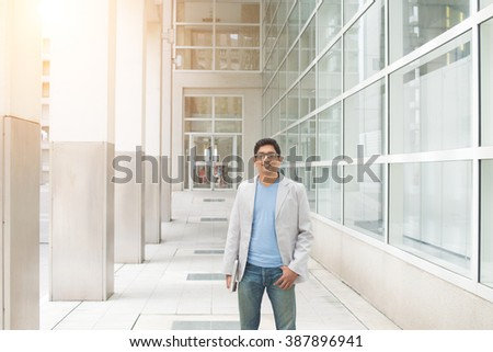 young indian male outdoor - stock photo